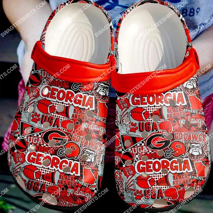 [Amazing fullprintingteeshirt] the georgia bulldogs football all over printed crocs crocband clog