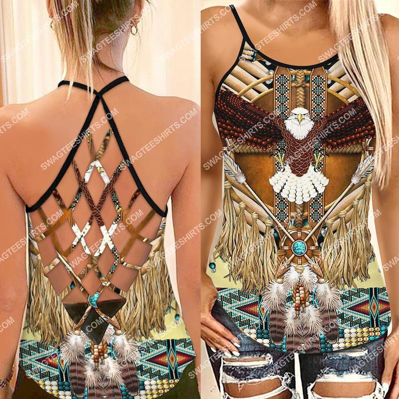 [Amazing fullprintingteeshirt] the owl native americans culture strappy back tank top