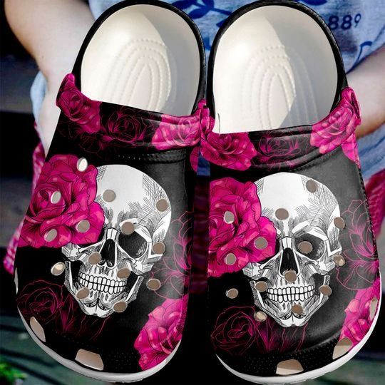 [Amazing owndesignshirt] the skull and rose all over printed crocs