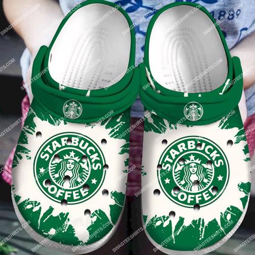 [Amazing swagtshirt] the starbucks coffee all over printed crocs