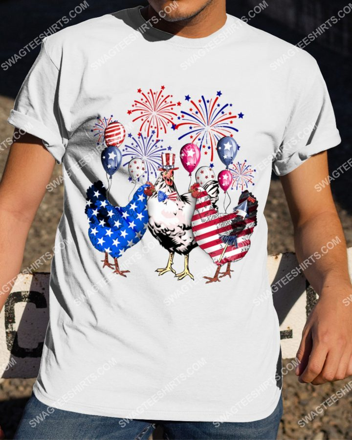 [Amazing mariashirts] three chickens happy independence day shirt