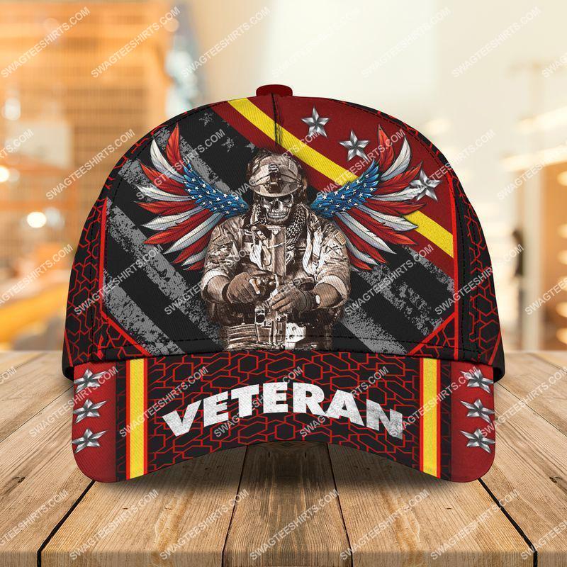 Amazingswagteeshirt]  united states army veteran skull all over printed classic cap