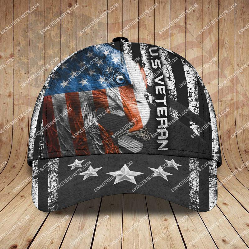 Amazingswagteeshirt]  united states veteran eagle with american flag classic cap