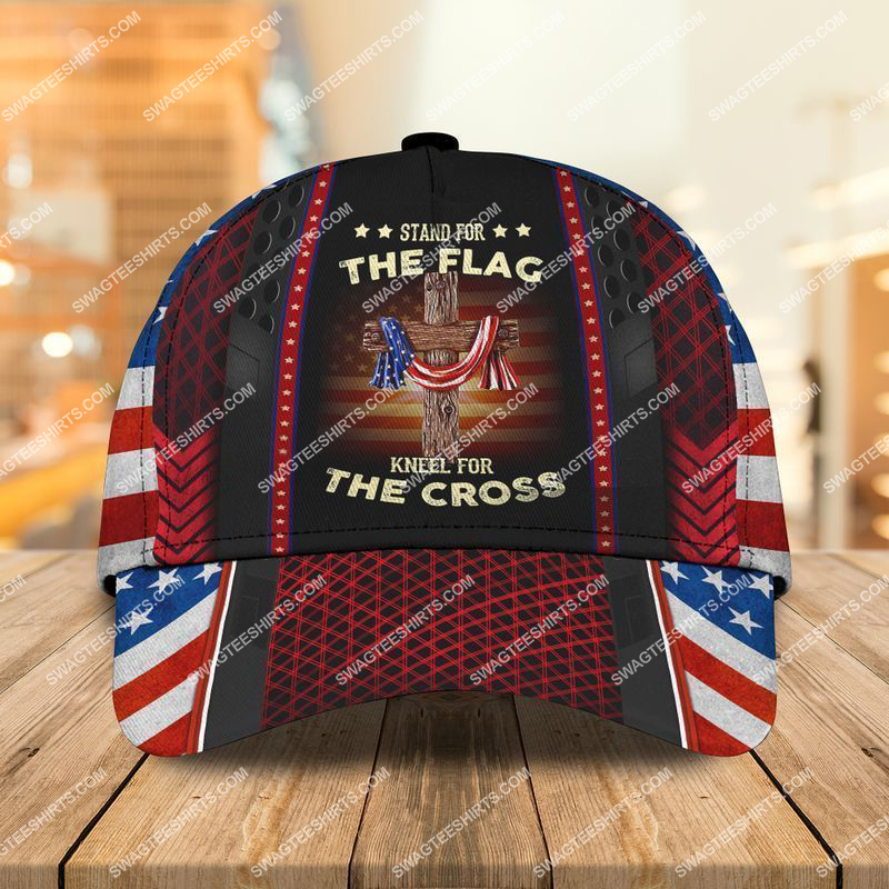 Amazingswagteeshirt]  united states veteran stand for the flag kneel for the cross classic cap