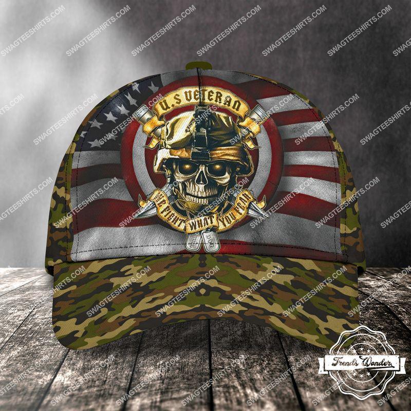 Amazingswagteeshirt]  united states veteran we fight what you fear skull classic cap