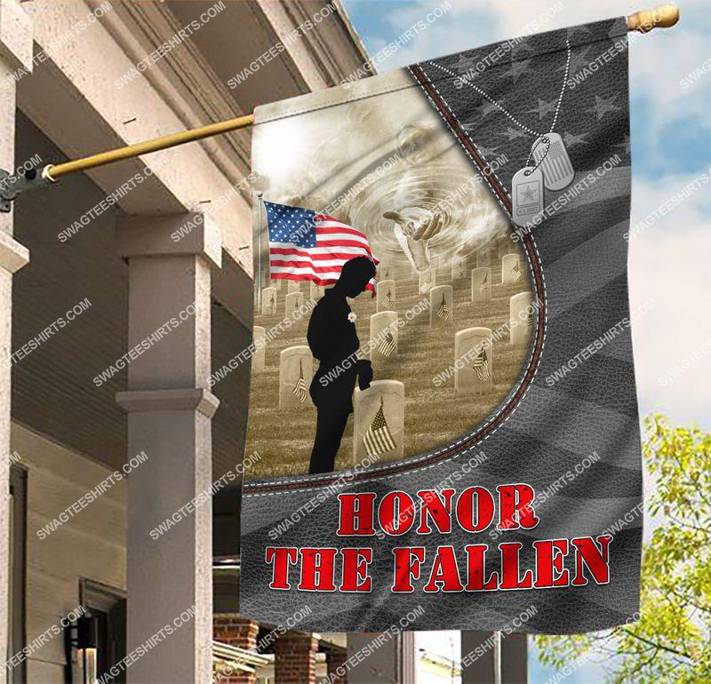 Amazingswagteeshirt]  usa veteran honor the fallen all over printed flag