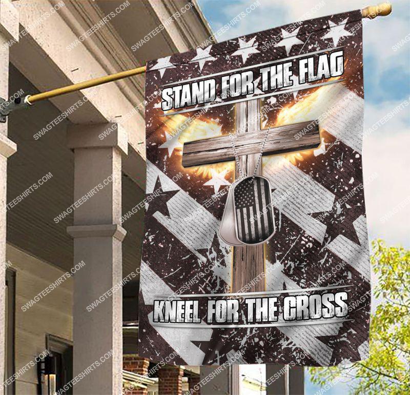 Amazingswagteeshirt]  usa veteran stand for the flag kneel for the cross flag
