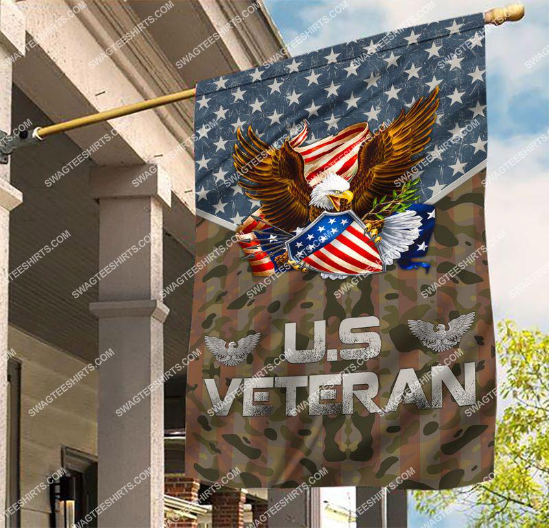 Amazingswagteeshirt]  usa veteran with eagle all over printed flag