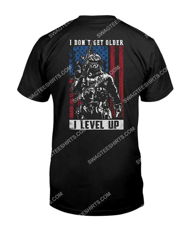 [Amazing mariashirts] veteran i don't get older i level up american flag shirt