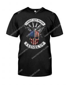 [Amazing mariashirts] veteran i don't get older i level up shirt