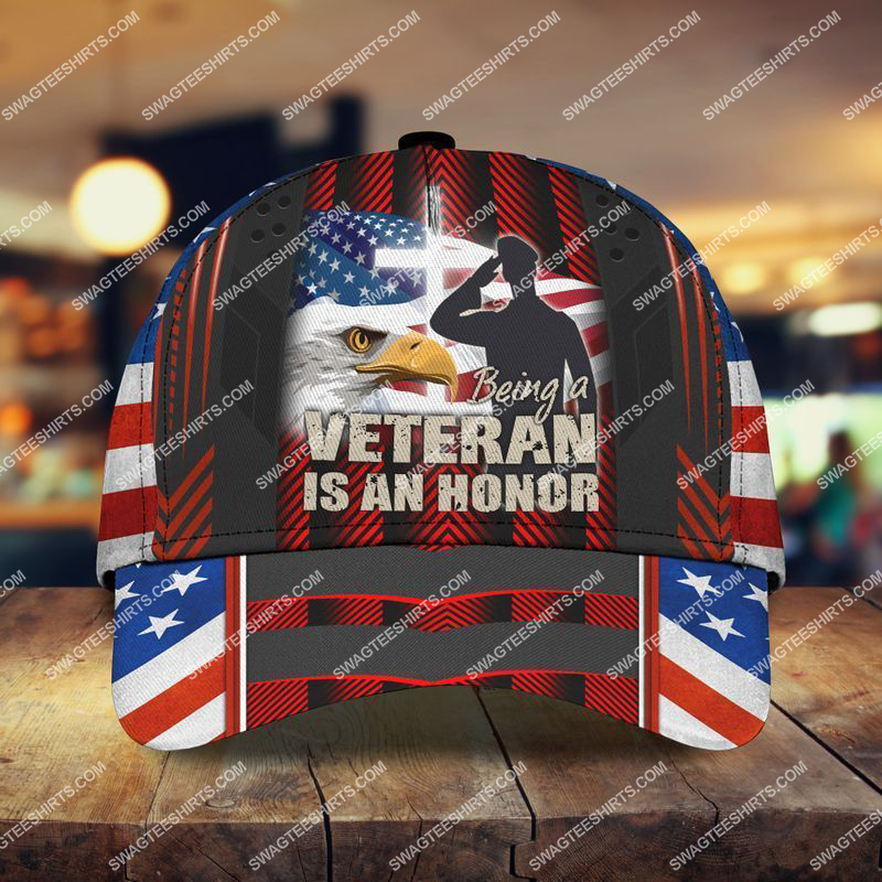 Amazingswagteeshirt]  veterans day being a veteran is an honor all over printed classic cap