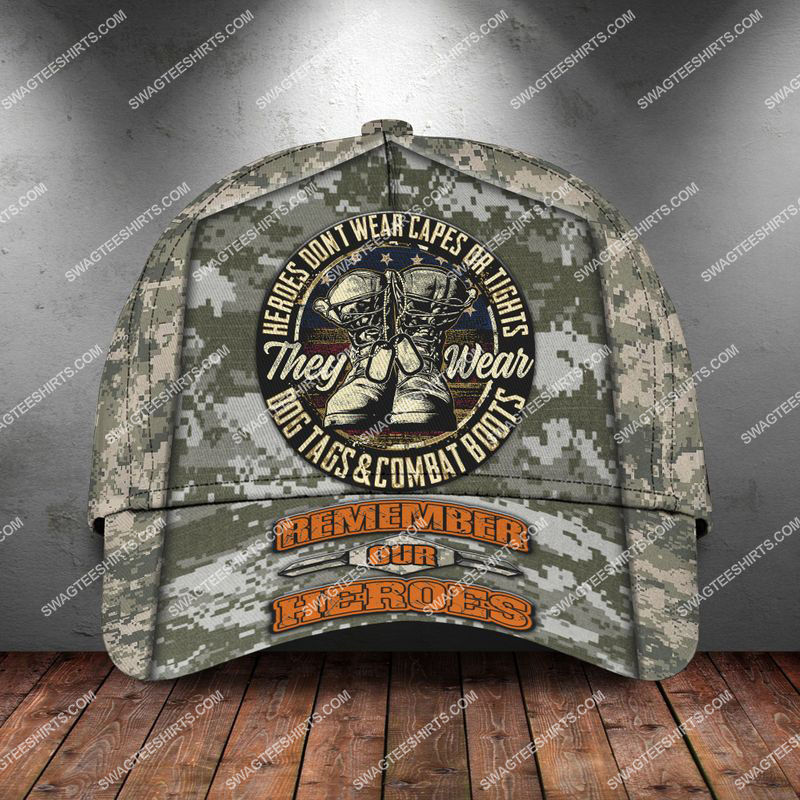Amazingswagteeshirt]  veterans day heroes wear dog tags and combat boots classic cap