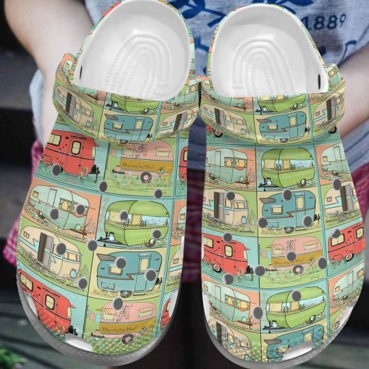 [Amazing owndesignshirt] vintage camping lover all over printed crocs