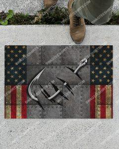 [Amazing swagtshirt] vintage love fishing america flag doormat
