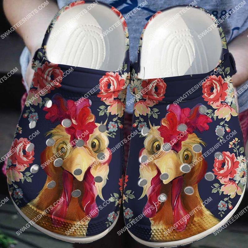 [Amazing fullprintingteeshirt] vintage rooster floral all over printed crocs