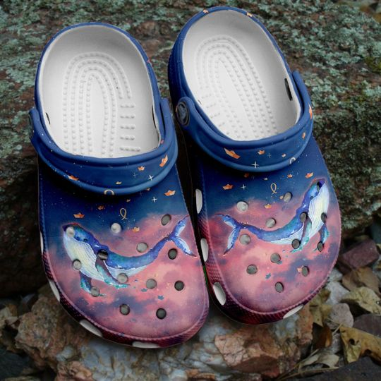 [Amazing owndesignshirt] whale splash watercolor all over printed crocs
