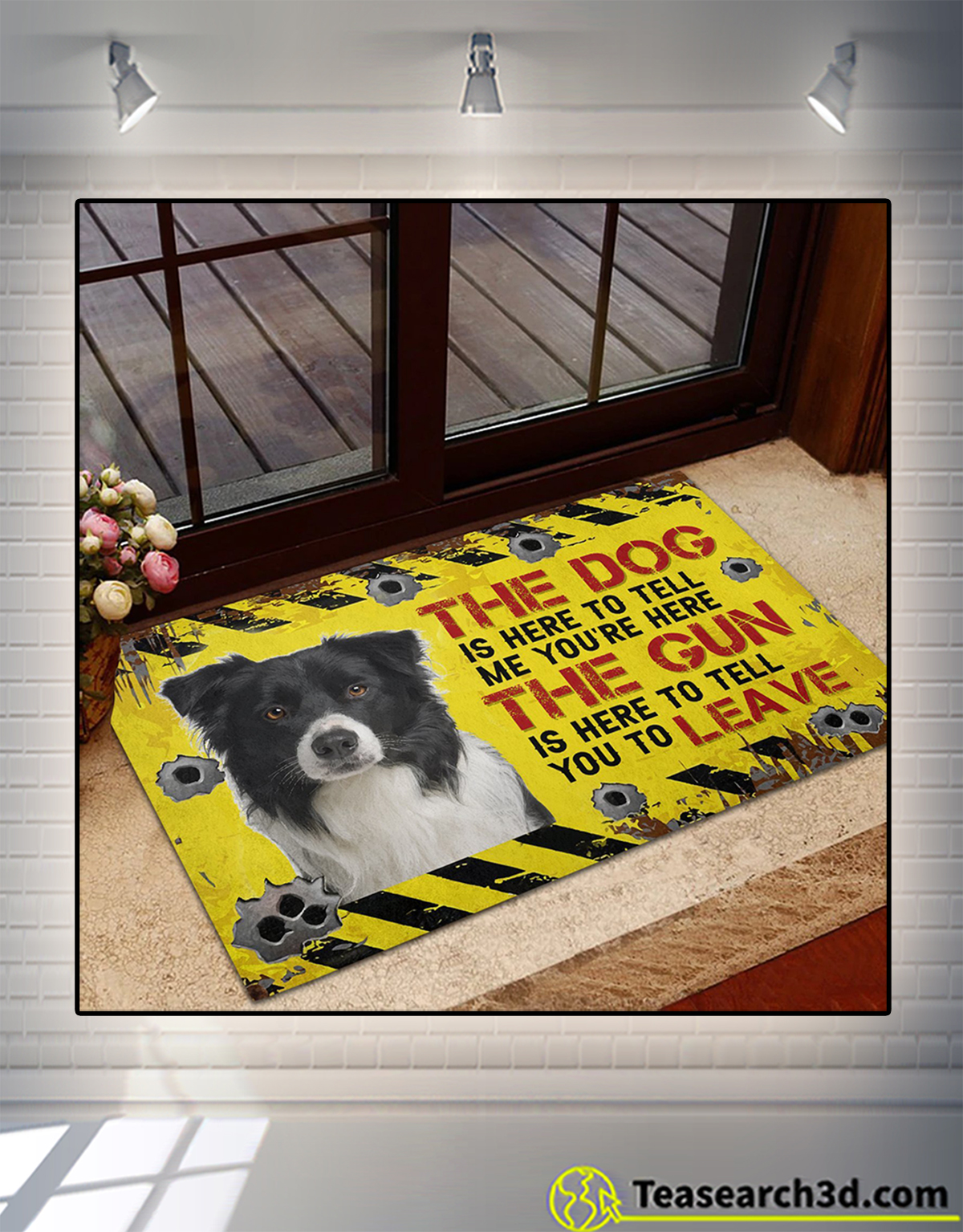 Border Collie The dog is here to tell me you're here doormat