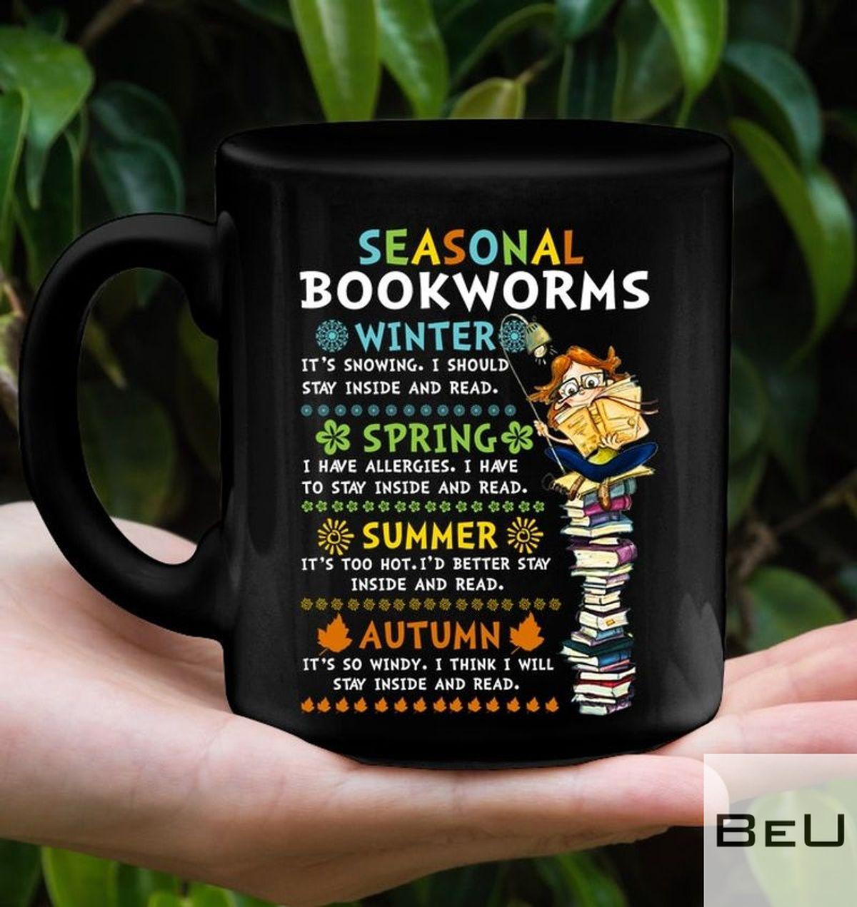 Ceramic Seasonal Bookworms Winter It's Snowing I Should Stay Inside And Read Mug