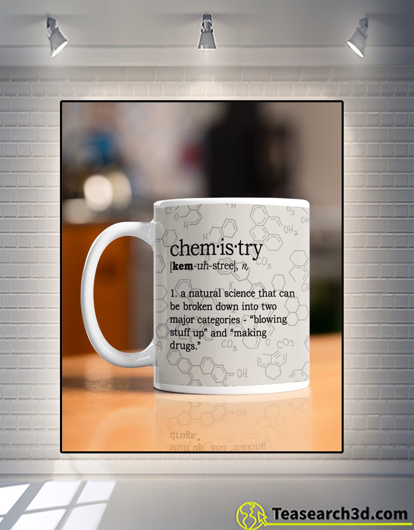 Chemistry definition a natural science mug