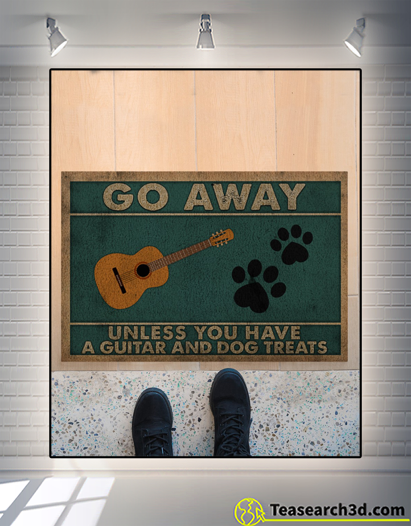 Go away unless you have a guitar and dog treats doormat