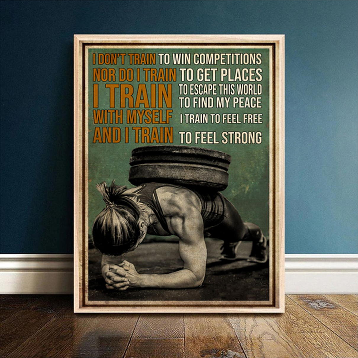 Gym girl I don't train to win competitions canvas