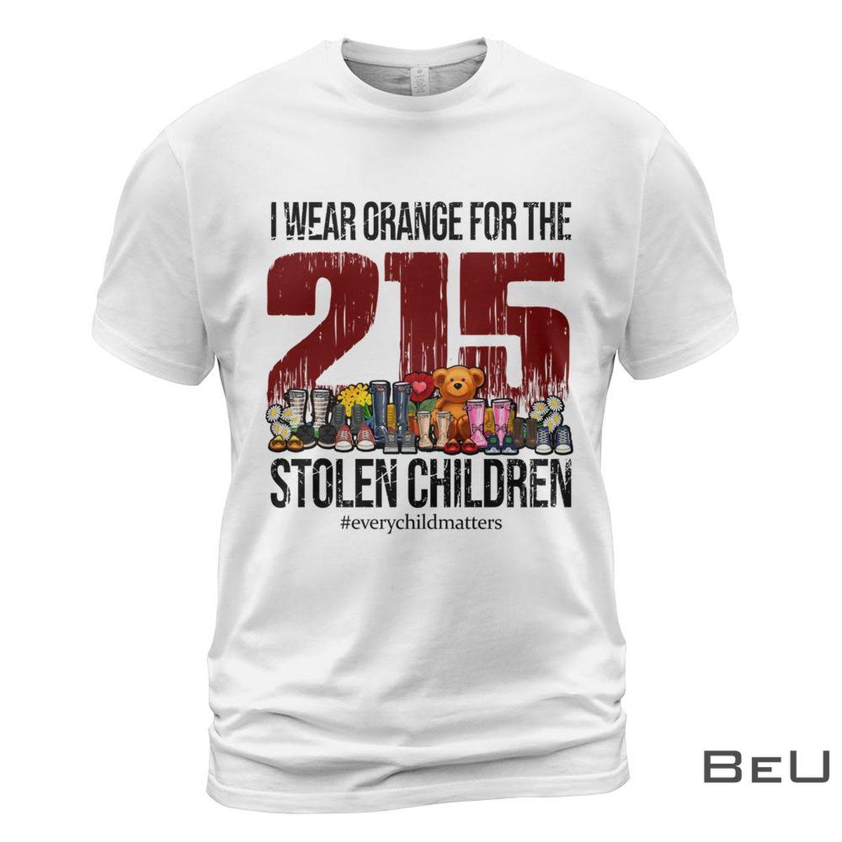 I Wear Orange For The Stolen Children Shirt