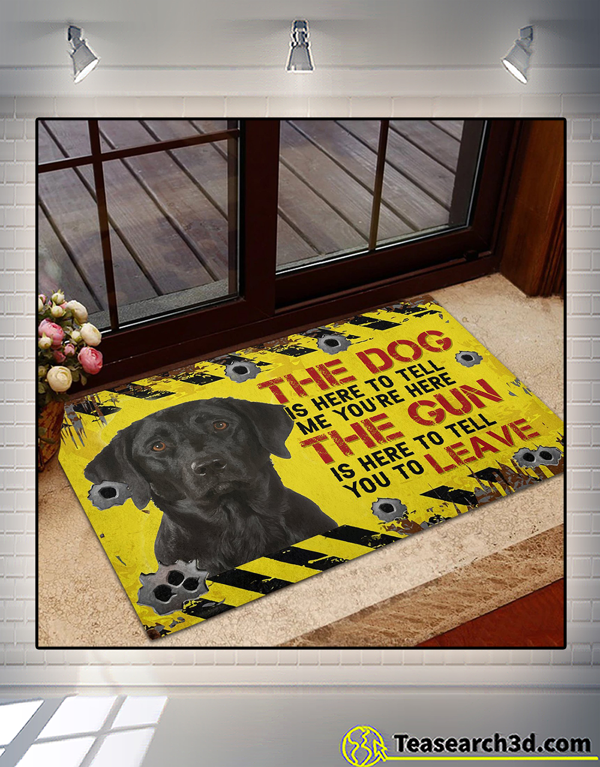Labrador Retriever The dog is here to tell me you're here doormat