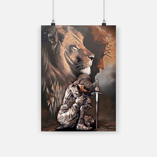 Lion woman warrior jesus I am storm canvas