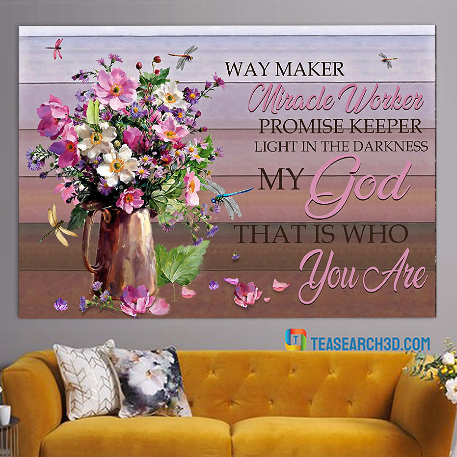 My god way maker miracle worker canvas
