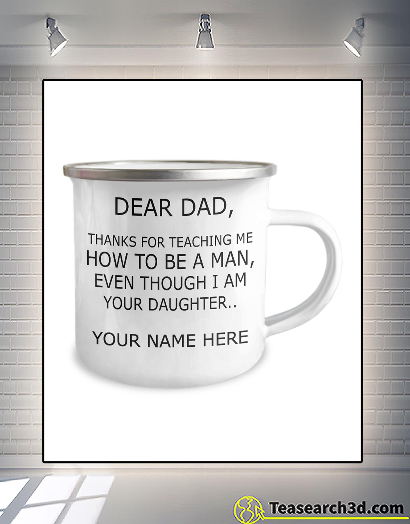 Personalized custom name dear dad thank for teaching me campfire mug