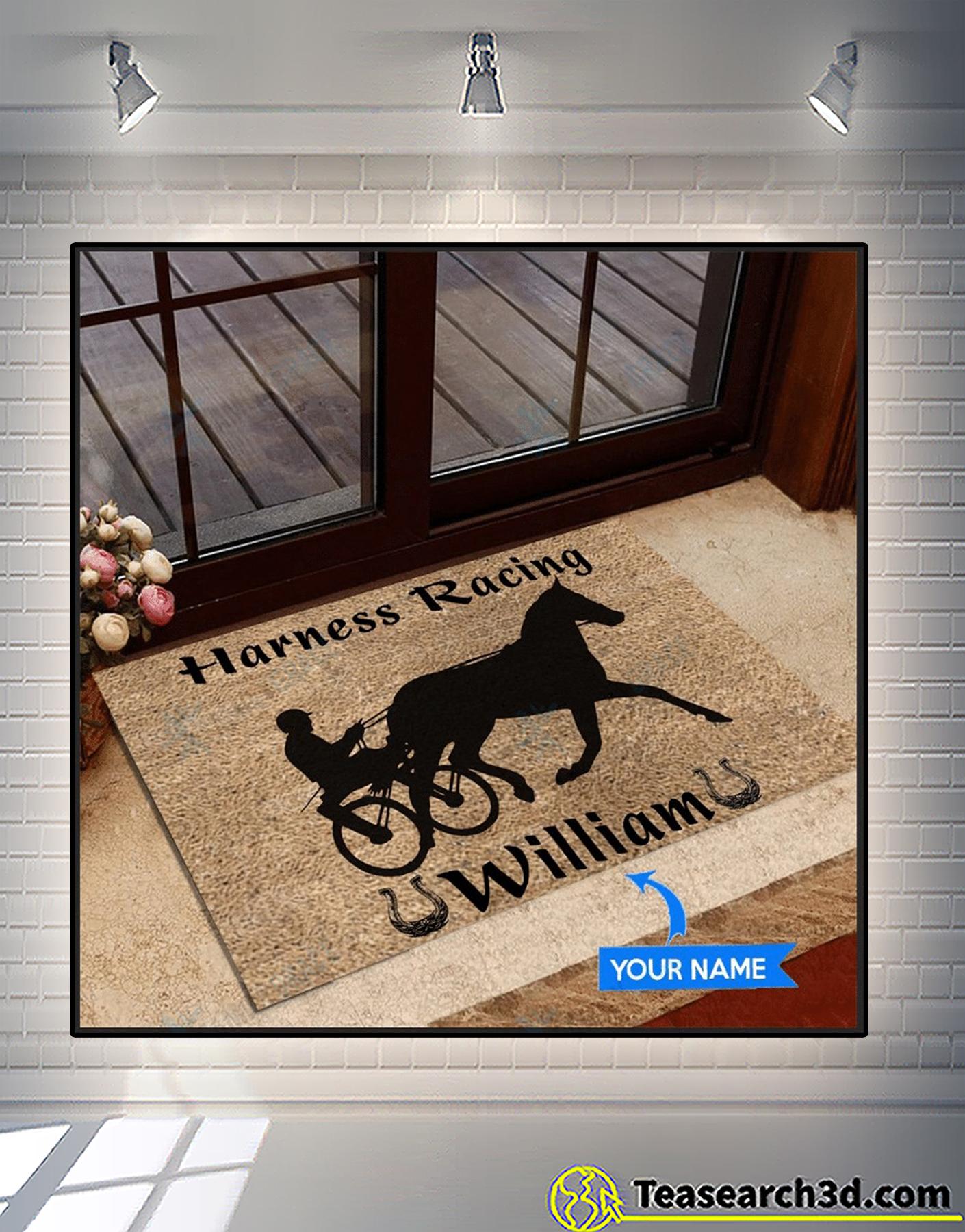 Personalized custom name harness racing doormat