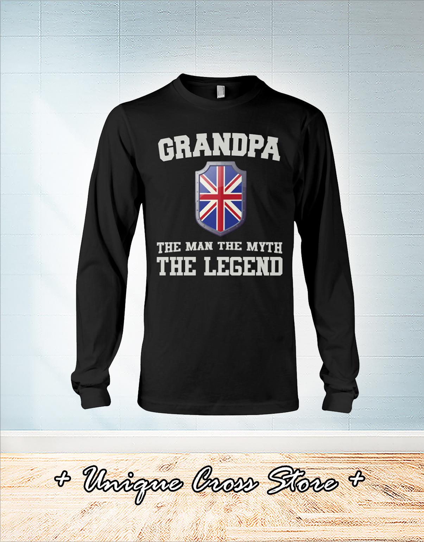 UK flag Grandpa the man the myth the legend shirt