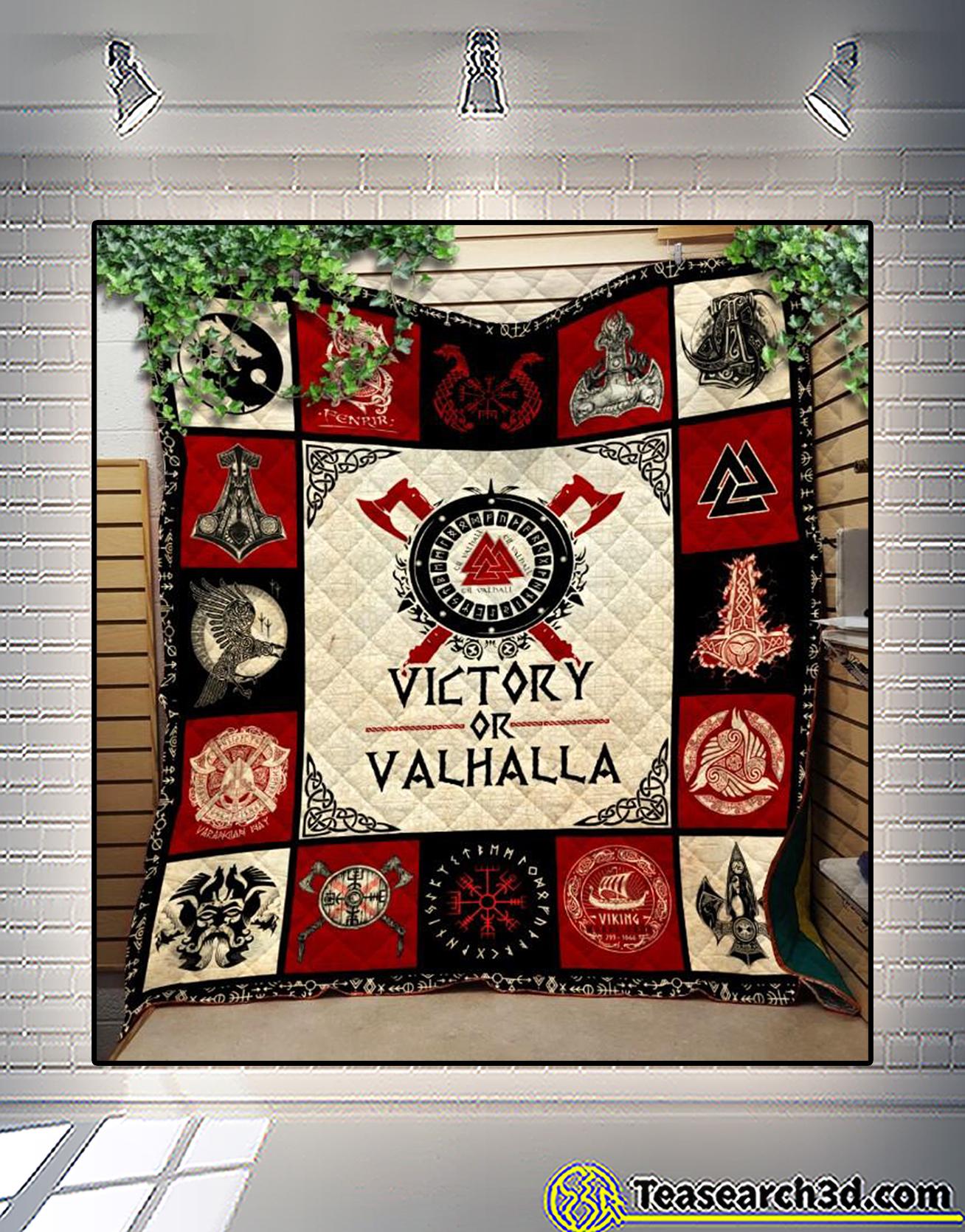 Viking victory or valhalla quilt blanket