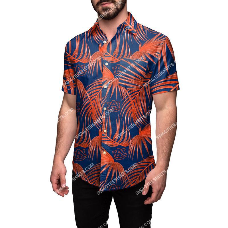 Amazingowndesignshirt] auburn tigers ncaa tropical full print hawaiian shirt