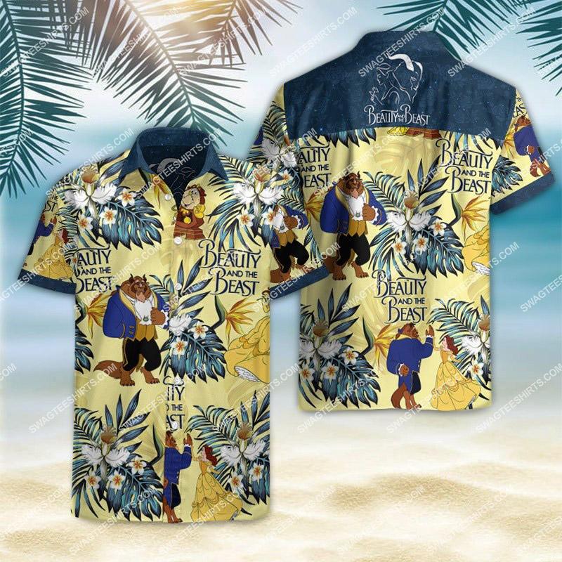 Amazingfullprintingteeshirt] beauty and the beast movie hawaiian shirt
