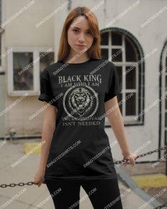 Amazingmariashirts] black king i am who i am your approval isn't needed shirt