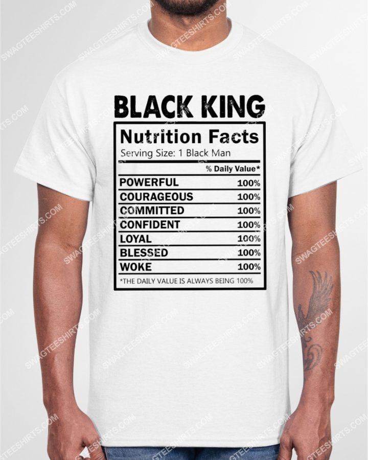 Amazingmariashirts] black pride black king nutritional facts shirt