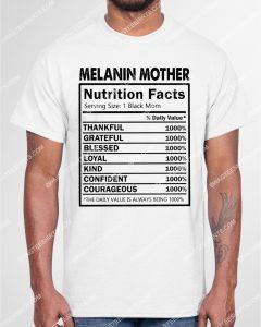 Amazingmariashirts] black pride melanin mother nutritional facts shirt