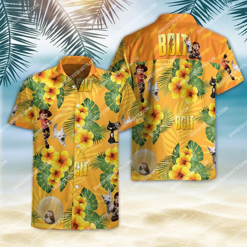 Amazingfullprintingteeshirt] bolt movie all over printed hawaiian shirt
