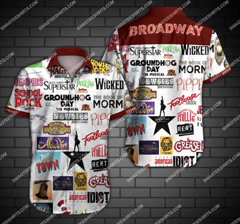 Amazingfullprintingteeshirt] broadway all over print hawaiian shirt