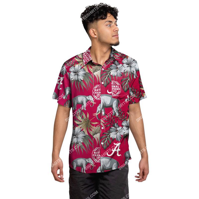 Amazingowndesignshirt] football national champions alabama crimson tide full print hawaiian shirt