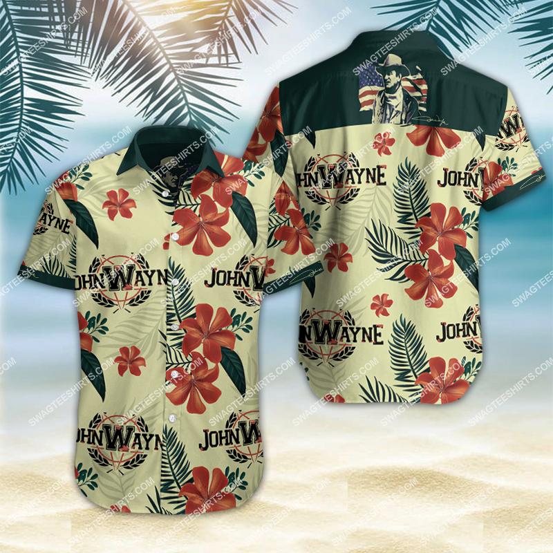 Amazingfullprintingteeshirt] john wayne all over print hawaiian shirt