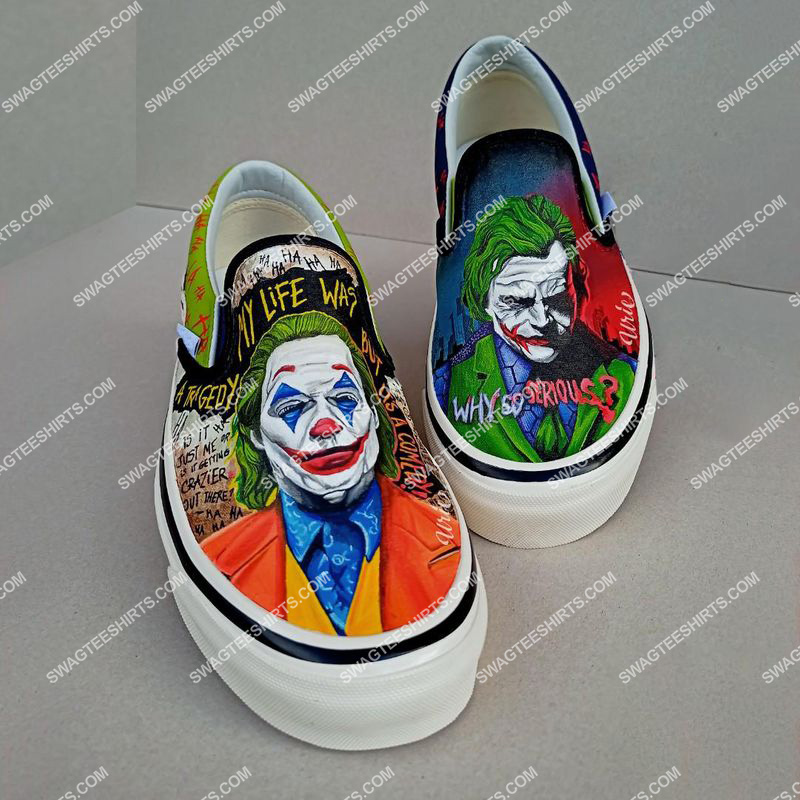 Amazingowndesignshirt] joker why so serious all over print slip on shoes
