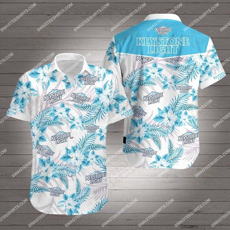 Amazingfullprintingteeshirt] keystone light all over print hawaiian shirt