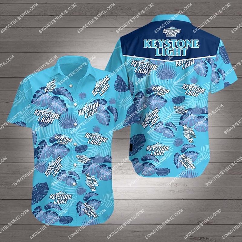 Amazingfullprintingteeshirt] keystone light beer all over print hawaiian shirt