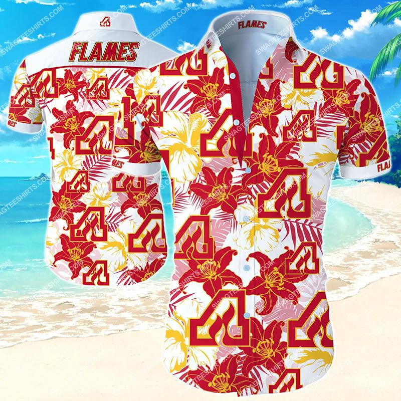 Amazingnational hockey league atlanta flames hawaiian shirt