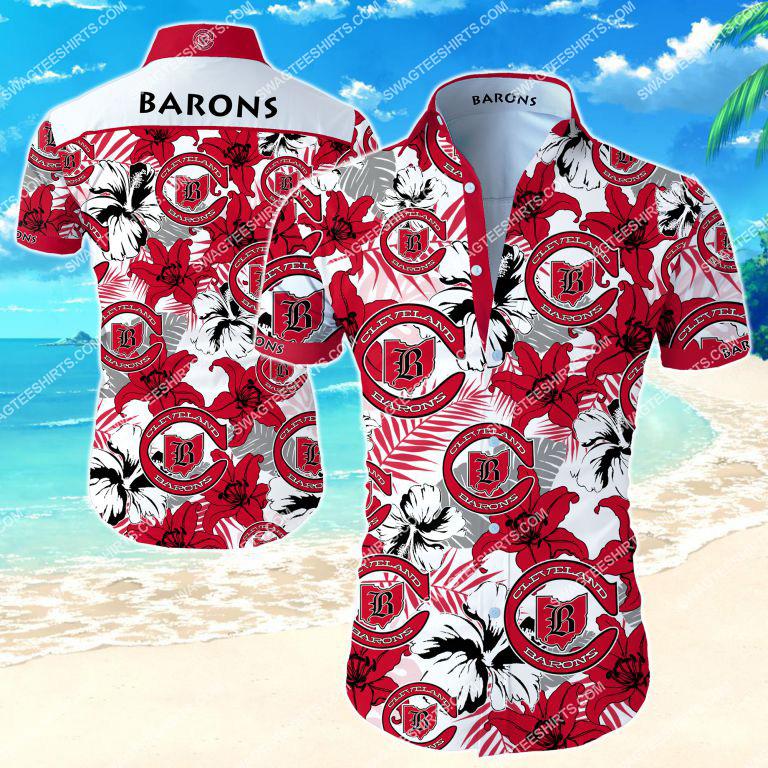 Amazingfullprintingteeshirt] national hockey league cleveland barons hawaiian shirt