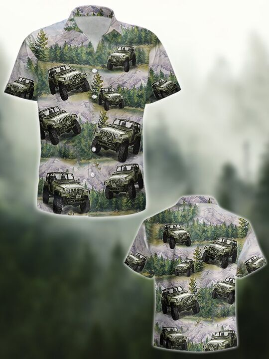Amazingowndesignshirt] the jeep forest all over printed hawaiian shirt