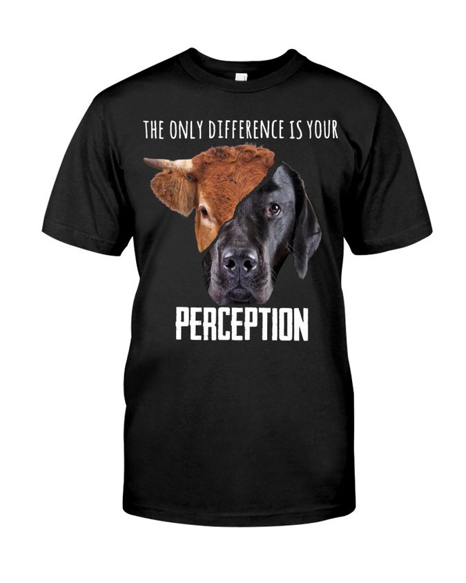 Amazingswagtshirt] the only difference is your perception save animals shirt
