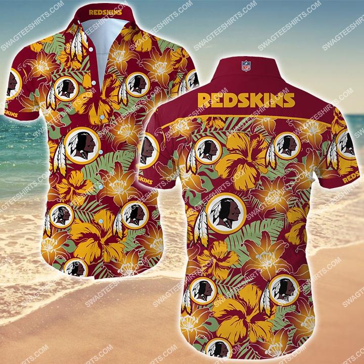 Amazingfullprintingteeshirt] the washington redskins football team hawaiian shirt